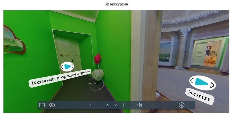 Скрин 3-D экскурсии с сайта клиента