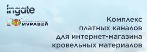 """""""Муравей"""": Комплекс платных каналов для интернет-магазина кровельных материалов"""