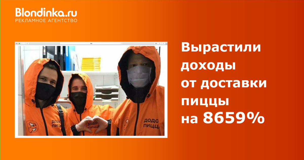 Продвижение доставки Додо в Москве: карты, деньги, рост дохода на 8659%