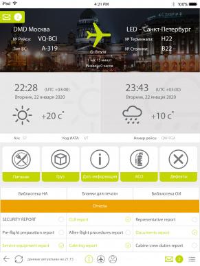 iPad-приложение для бортпроводников
