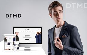 Разработка интернет-магазина стильной мужской одежды DTMD
